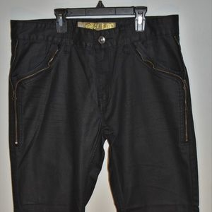 Mens Log wax coated jeans size 34x31, great shape